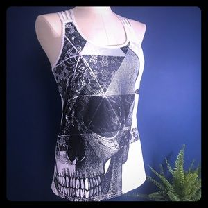Tops - Skull Strappy Workout Tank LG